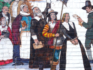 Mural in Ipswich depicting Elizabeth Howe