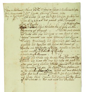 Court Indictment of Margaret Scott
