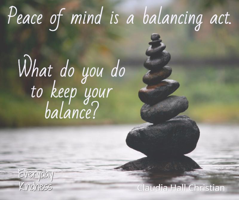 You need balance to be kind.