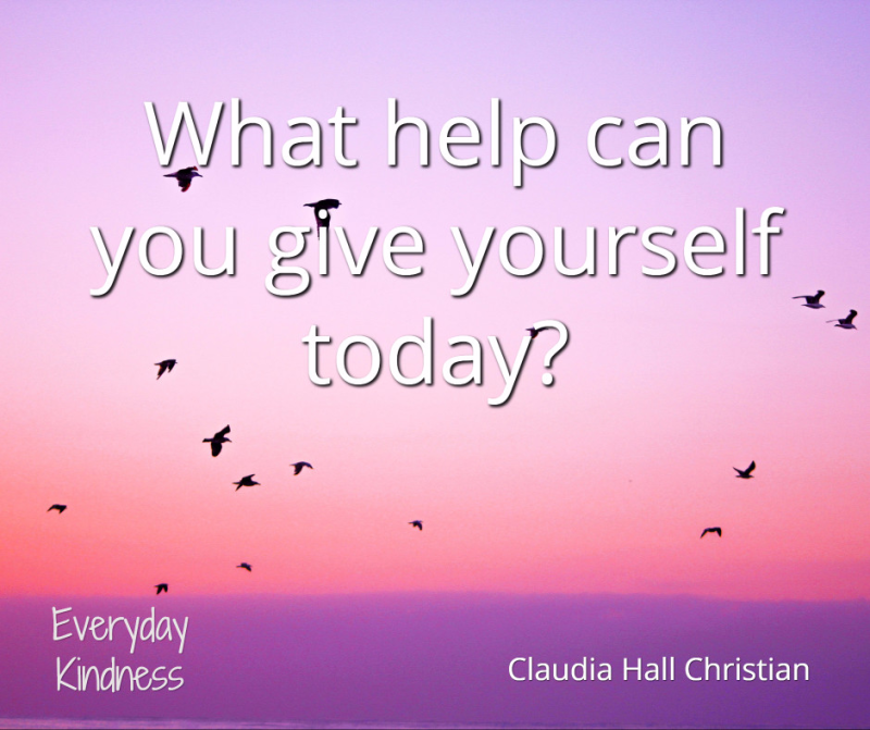 What help can you give yourself?
