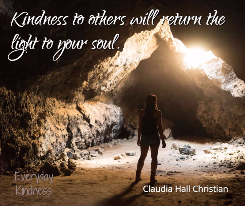 Kindness lights up your soul