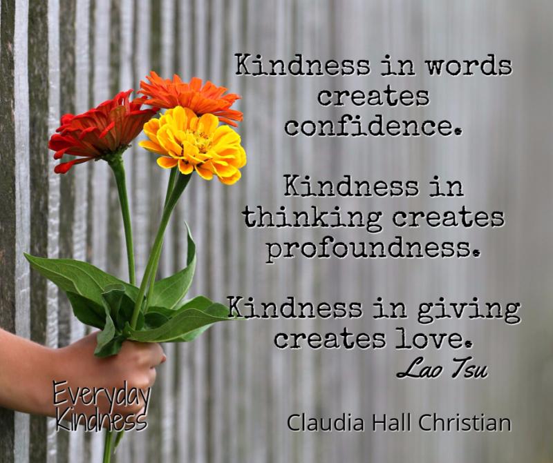 Kindness gives...