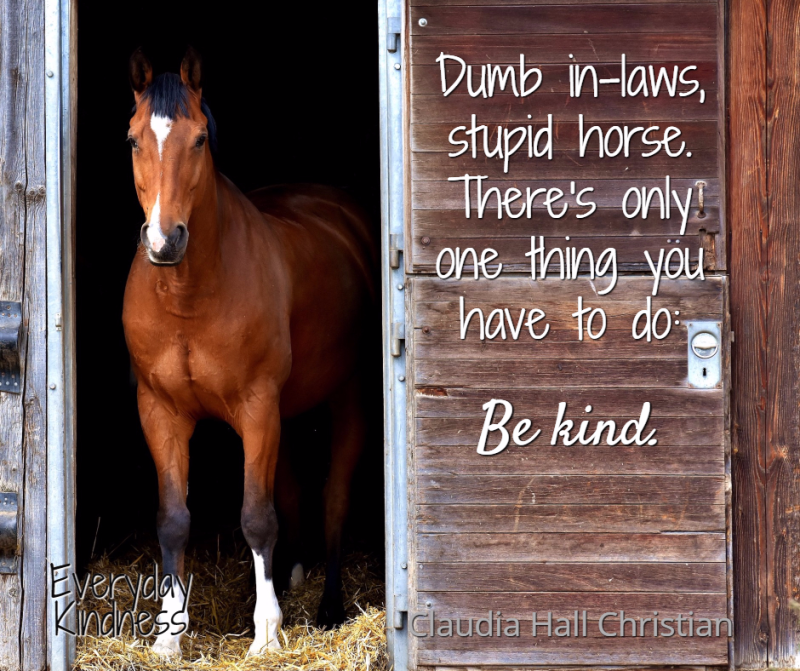 All you have to do is be kind