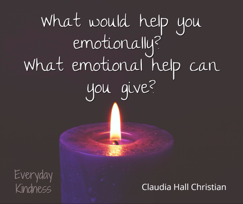 What emotional help do you need?