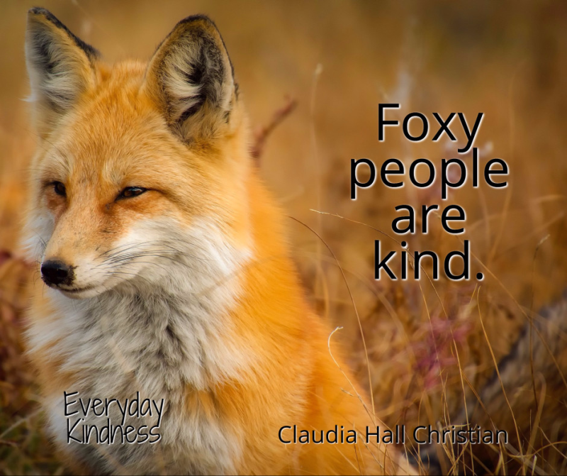 Foxy people are kind