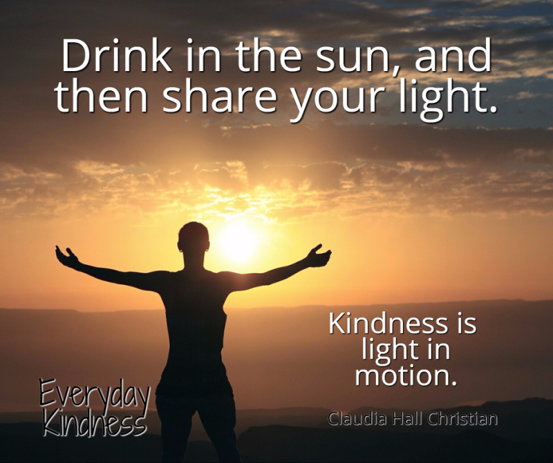 Drink in the sun, and then share your light.