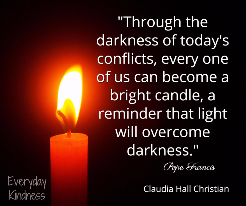 Light will overcome darkness.