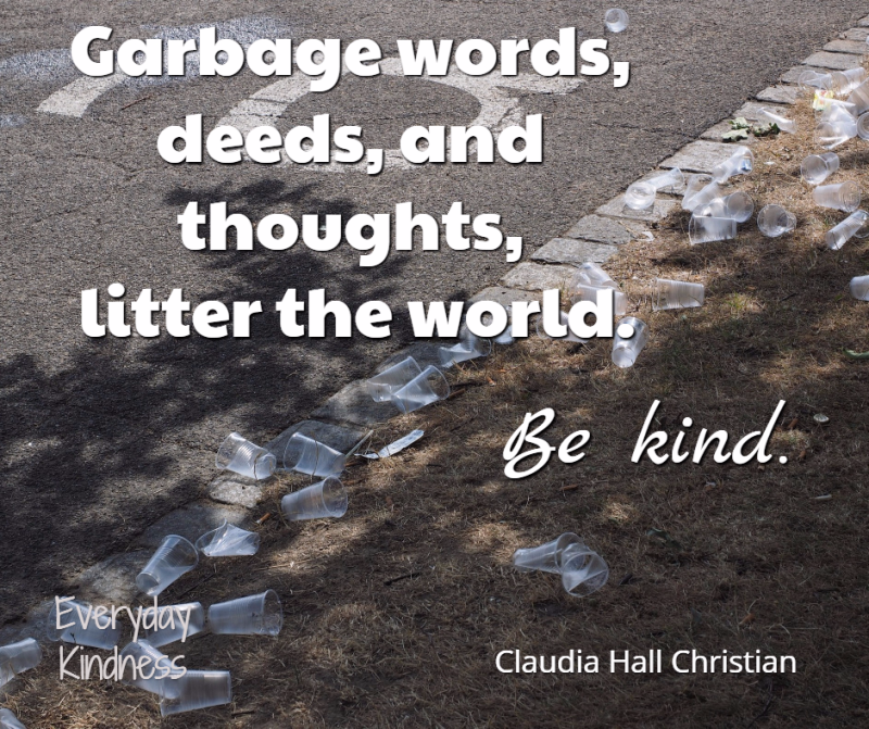 Garbage words are litter