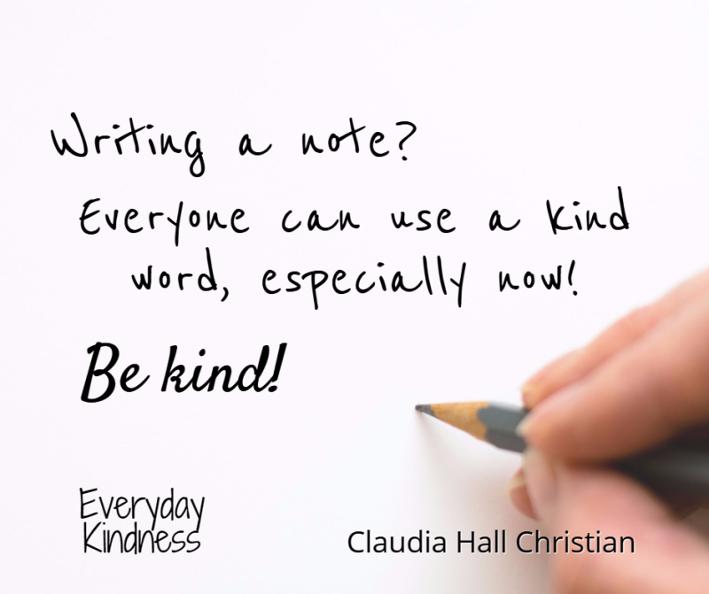 Write kind notes